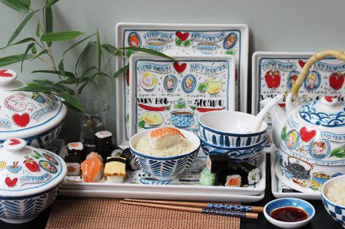 Van rijsttafel tot sushi snacks, serveer het op dit leuke servies.