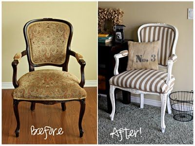 DIY chair reupholster - love it!