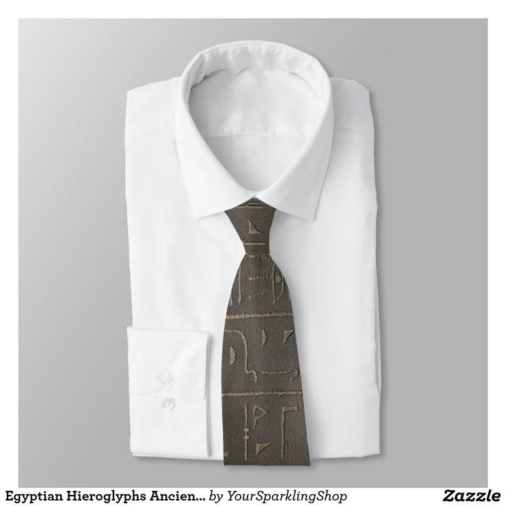 Egyptian Hieroglyphs Ancient Egypt Writing Symbols #Tie #MenStyle #MensFashion