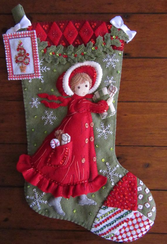 Bucilla Holly Days Completed by MissingSockStitchery on Etsy