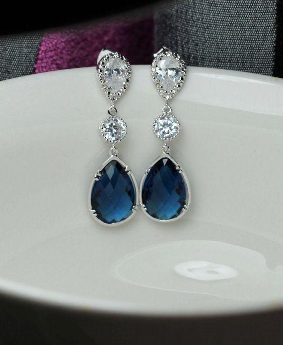 lange Tropfen Sie Montana Ohrring blau Ohrring von arbjewelry