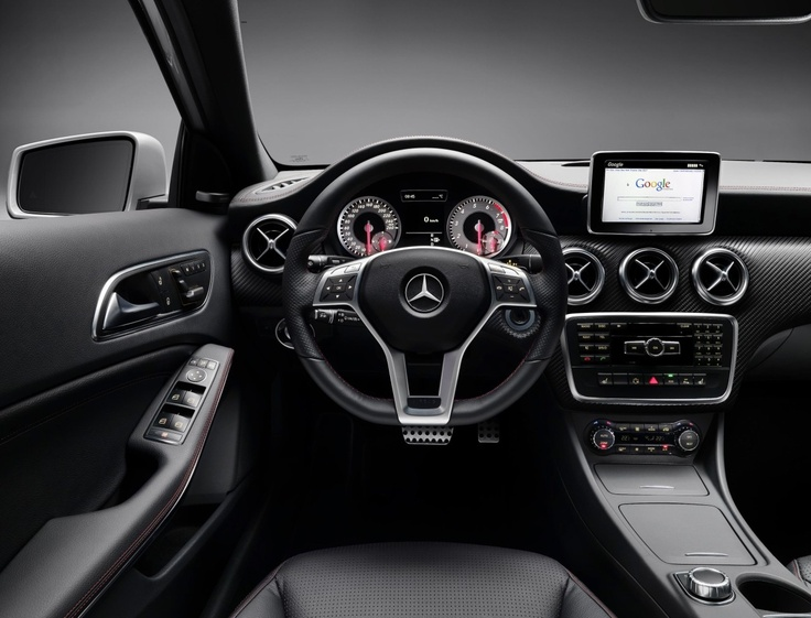 The new Mercedes A-Class instrument panel.
