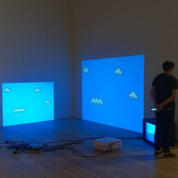 Cory Arcangel, Super Mario Clouds #digitalart #art #museum #supermariobros #videogames #coryarcangel #clouds #NewWhitney