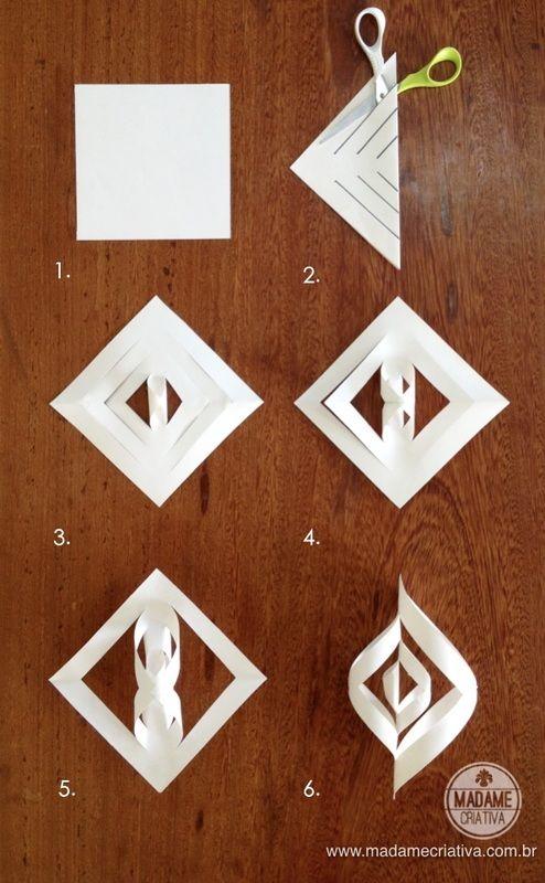 Como fazer pendente de natal twist -  Passo a passo com fotos - How make a twist pendant- DIY tutorial  - Madame Criativa - www.madamecriativa.com.br