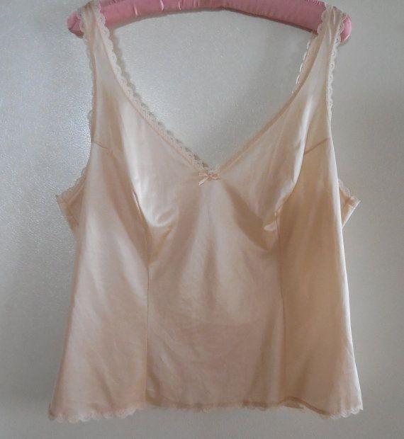 Cream camisole lingerie cream cami top by TillieLuvsTreasures