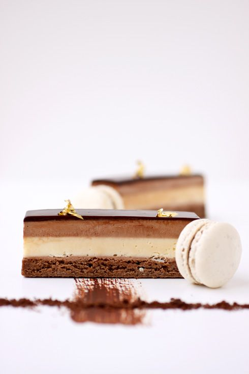 Milk Chocolate and Passion Fruit Cream Bars :: Cannelle et Vanille