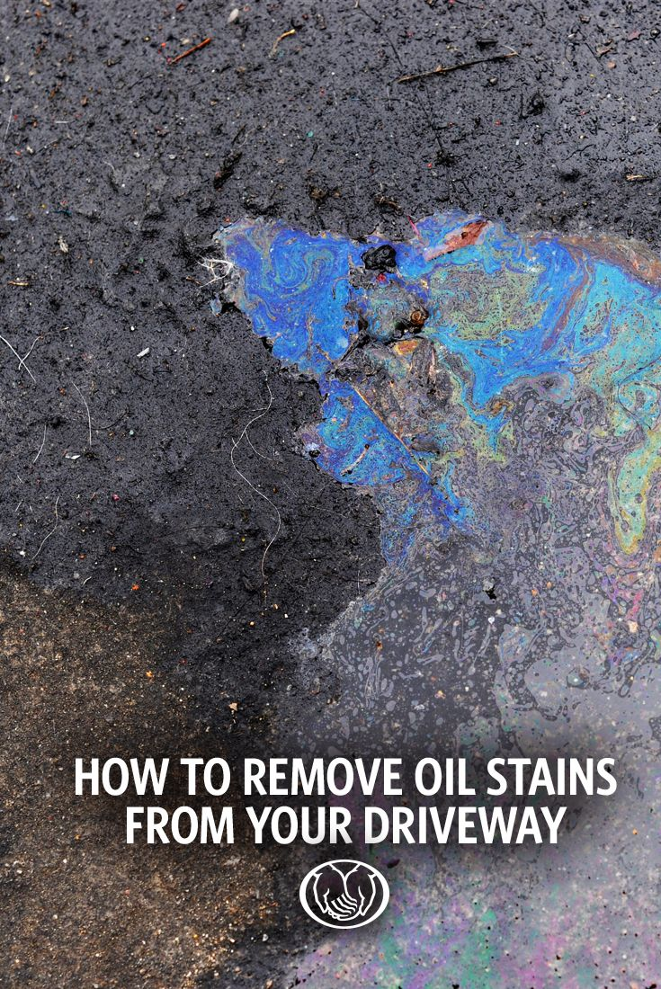 How to remove oil stains from driveways concrete garages for Remove oil from concrete floor