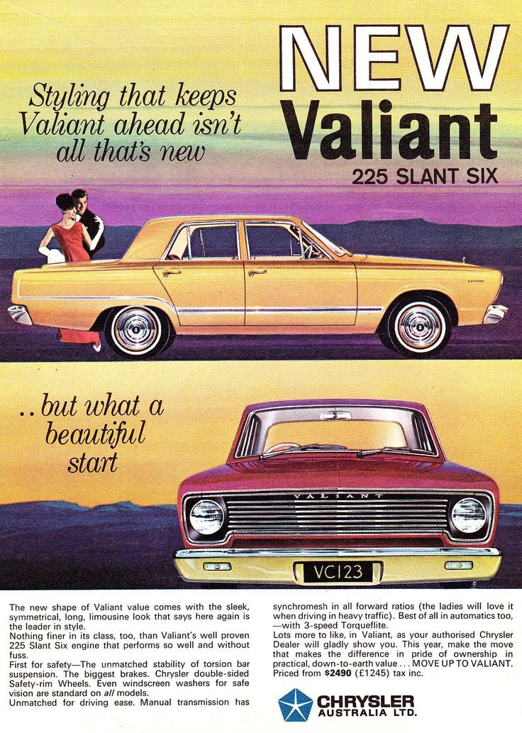 Ad for 1966 VC Valiant.