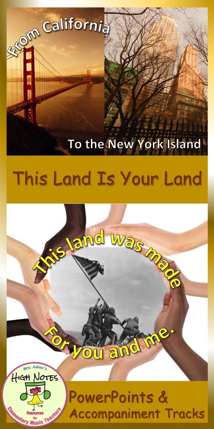 patriotic powerpoint this land is your land back to school ready
