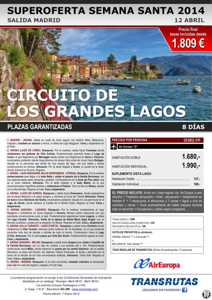 ITALIA: Circuito Grandes Lagos ¡¡Superoferta Semana Santa: 12 abril!! sal. Madrid ultimo minuto - http://zocotours.com/italia-circuito-grandes-lagos-superoferta-semana-santa-12-abril-sal-madrid-ultimo-minuto/