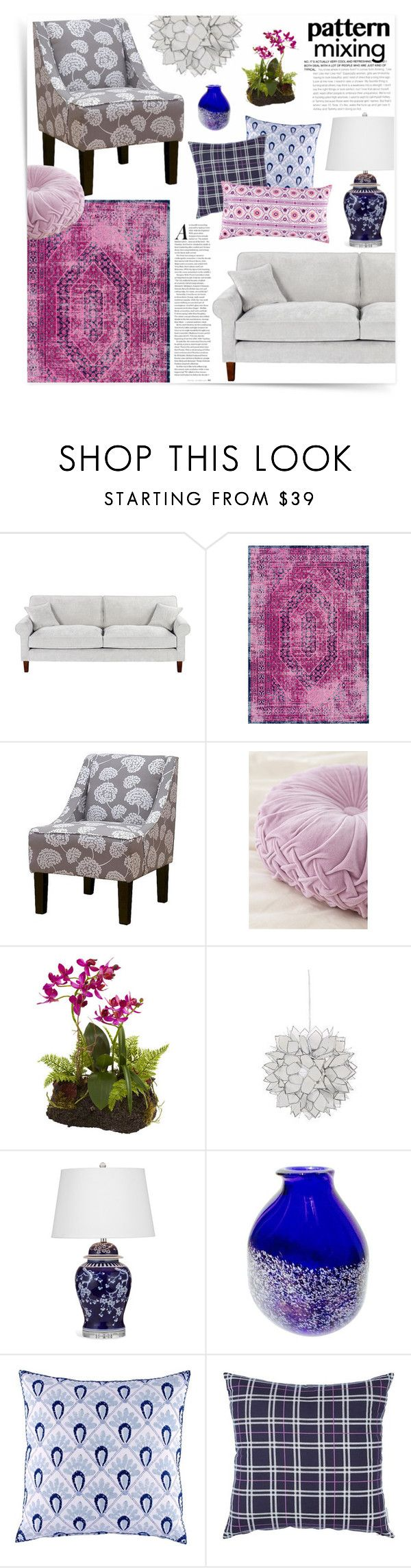 """""""Pattern Mixing At Home"""" by katrinaalice on Polyvore featuring interior, interiors, interior design, home, home decor, interior decorating, See by Chloé, nuLOOM, Urban Outfitters and Chandelier"""