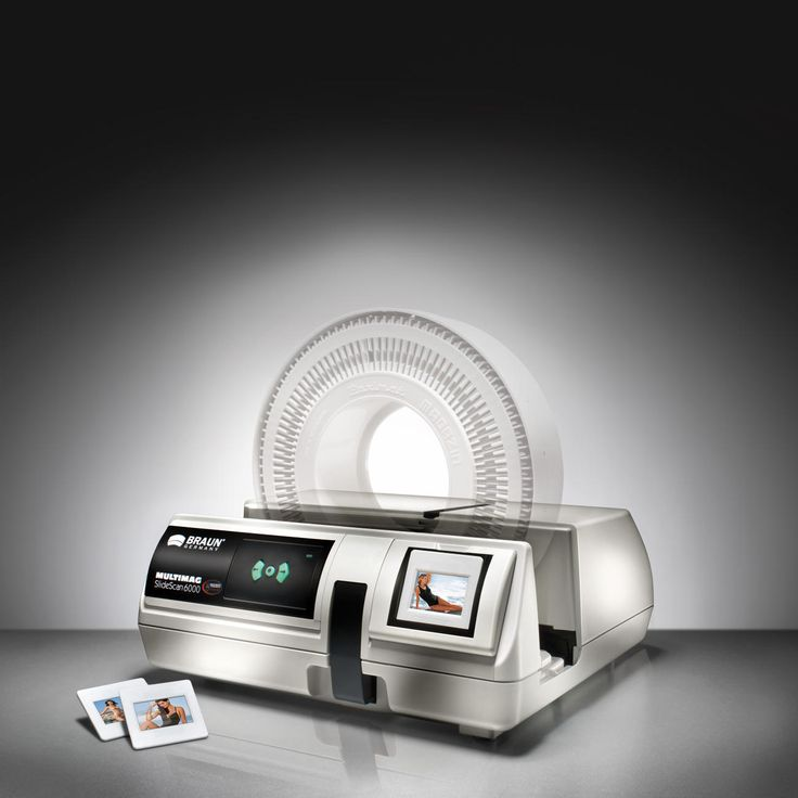 Braun Multimag SlideScan 6000 Digitalise your precious slides as professionally as a photo lab.