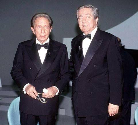 """Mike e Corrado, dalla trasmissione """"I tre tenori""""(il terzo tenore era ovviamente Raimondo Vianello)"""