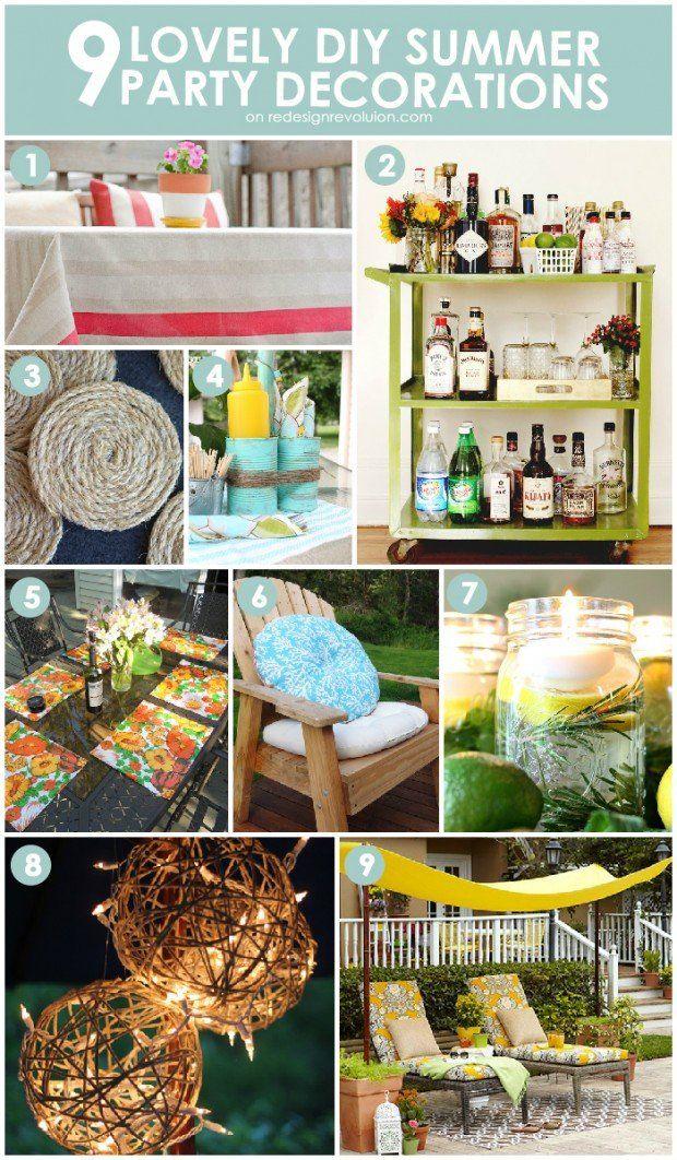 summer party planning diy | DIY Thursday: 9 Lovely DIY Summer Party Decorations