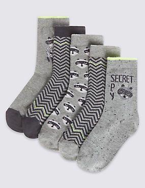 5 Pairs of Freshfeet™ Assorted Socks (1-14 Years)