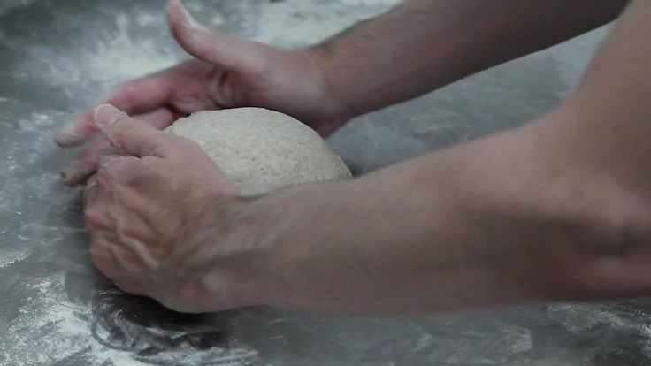 How to form a boule of no-knead bread.