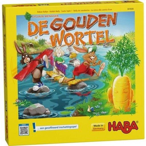 Engeltjes & Draken | Haba | De gouden wortel (4+). Probeer de gouden wortel in handen te krijgen dmv planken te leggen over het water. Maar opgelet: wie de lengte van de planken verkeerd inschat, moet blijven staan en toekijken hoe de concurrenten hem tijdens de wilde wedstrijd naar het worteleiland inhalen. #haba #gezelschapsspel #degoudenwortel #bordspel