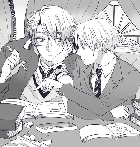 So adorable~! America, it appears that you are distracted~ X3<<<< do yo homework then spend time with bae!!!