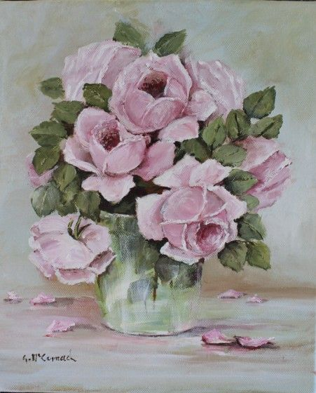 "Original Painting - ""Study of Old Rose Painting"" - Postage is included Australia Wide"