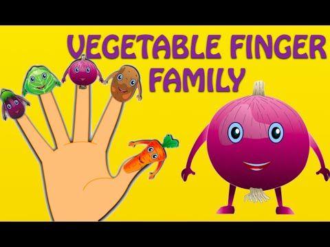 Vegetable Finger Family - Nursery Rhymes For Children