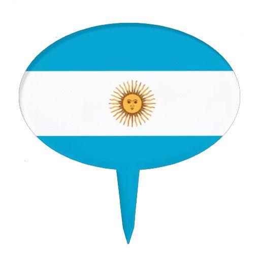 Argentina flag cake topper