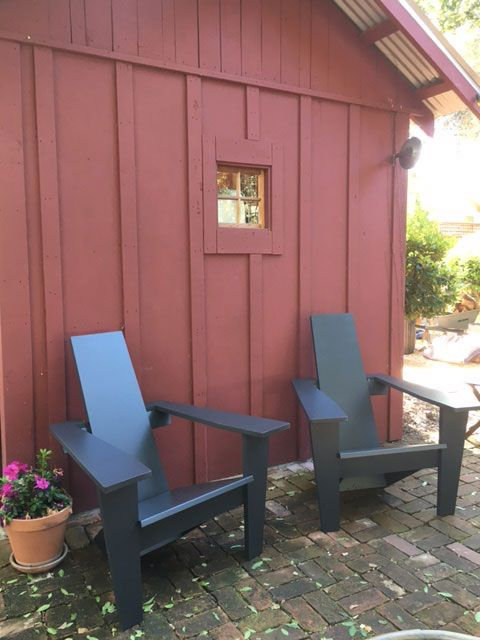 Mid-century Modern Adirondack Chair