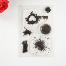 Coolhoo 1 unid TPR silicio claro Sello de salpicaduras de tinta DIY Toma de Scrapbooking/Tarjeta/Suministros de Decoración(China (Mainland))