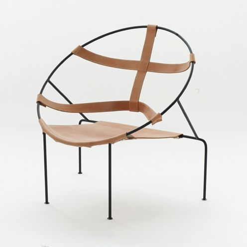 Lounge Chairs In Leather And Laquered Iron U2013 BeModern