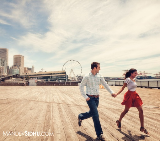 Seattle Waterfront Engagement Photos | Whidbey Island, Deception Pass Engagement Photography