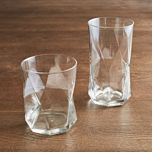 faceted glasses