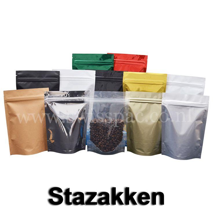 Swisspac beschikt over de mogelijkheid verschillende maten en kleuren vanuit voorraad te leveren. Door de flexibiliteit van de stazak biedt het de oplossing voor het verpakken van verscheidene producten zoals koffie, thee, cosmetica en dierenvoer. Een lege stazak is erg licht en is plat opgevouwen, dit maakt het gemakkelijk voor opslag en transport. http://www.swisspac.co.nl/stazakken/