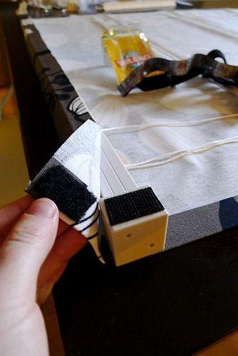 Transformando persianas baratas em cortinas romanas