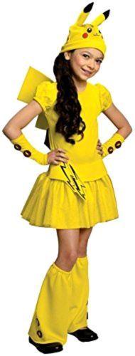 New-Pokemon-Girl-Pikachu-Halloween-Costume-Dress-Fit-Small-Size-Free-Shipping