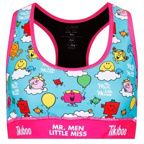 Tikiboo Mr. Men Little Miss Sports Bra Blue £24.99