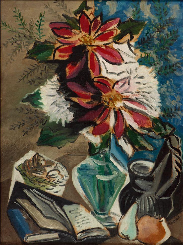 Flores e Livros - Gino Severini - c. 1942
