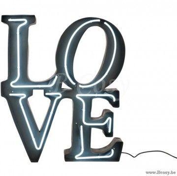J-Line Verlichte Letters Love LED-Verlichting Metaal Grijs 85H Jline-by-Jolipa-72405