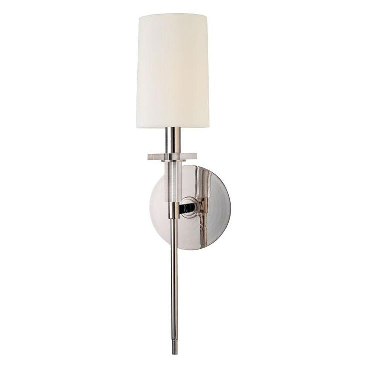One light polished nickel wall light 8511 pn cartwright lighting