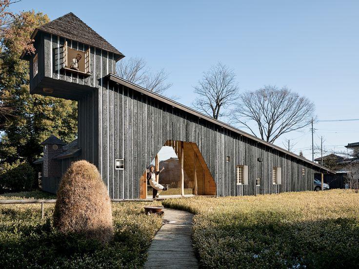 Charred Cedar house, 2007:  Example of Shou-Sugi-Ban