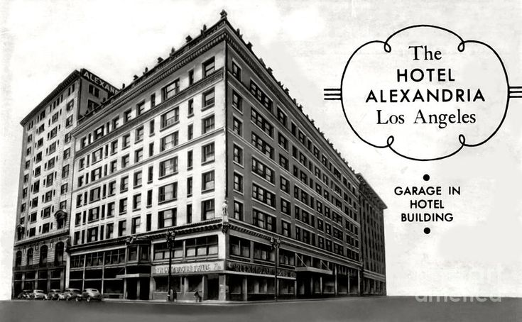 A postcard advertisement for the Alexandria Hotel in downtown Los Angeles, circa 1940s. (Bizarre Los Angeles)