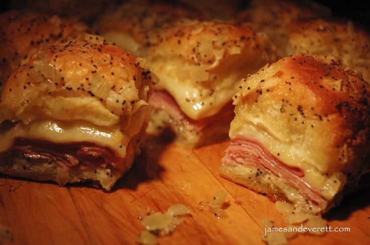 ham and swiss dijon mustard sandwiches