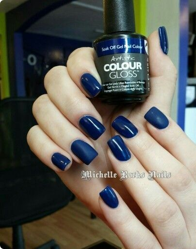 Artistic Colour Gloss Soverign Available At Louella Belle #ArtisticNailDesign #ArtisticColourGloss #Blue #BlueNails #GelPolish #LouellaBelle