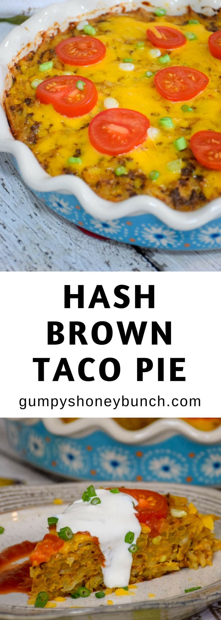 Whether your family is getting together for a holiday brunch, a long weekend, or just because, this Hash Brown Taco Pie is sure to be something that will make their taste buds happy and satisfy their tummies! #SimplyPotatoes #sponsored https://ooh.li/15acef0
