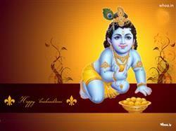 Happy Krishnashtami Hd Wallpaper 2013,Happy Janmashtami Greetings With Shree Krishna Birthday Greetings For Janmashtami Festival HD Wallpaper