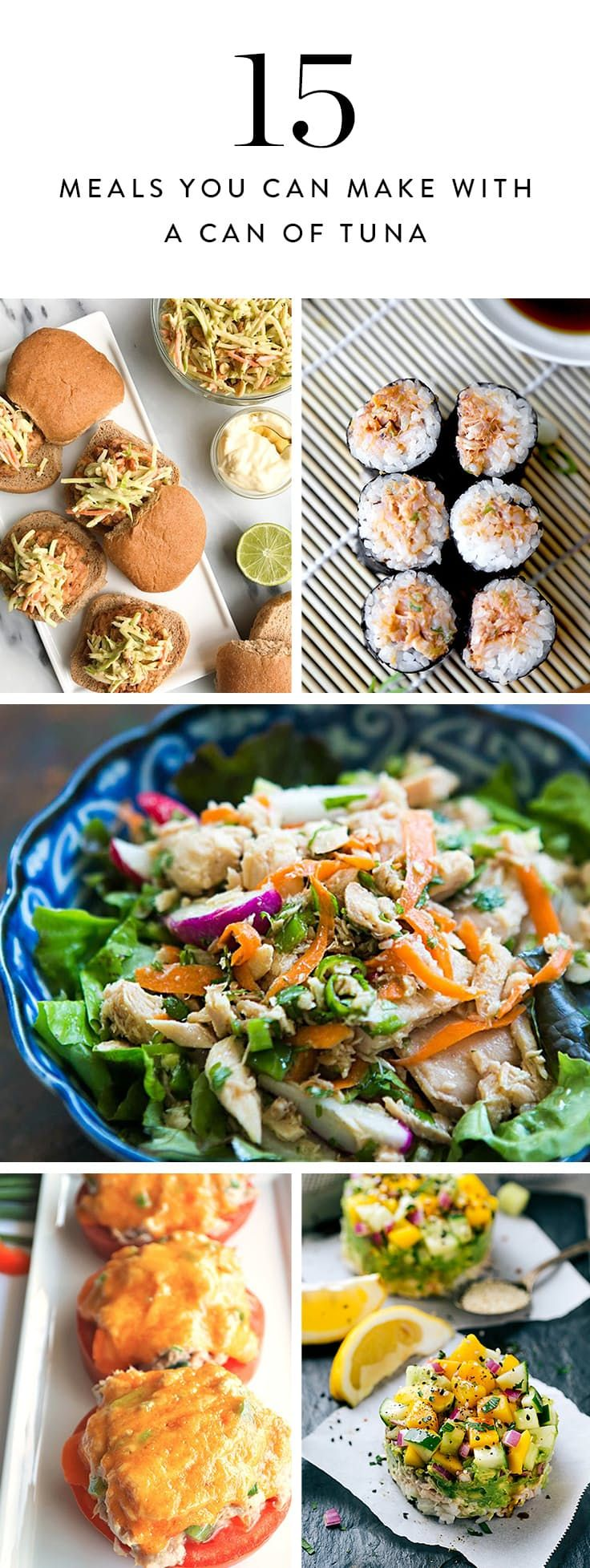 15 Surprisingly Awesome Meals You Can Make with a Can of Tuna via @PureWow