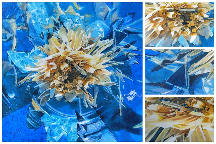Flowering Tea, acrylic painting on canvas  – kkgallery.sk