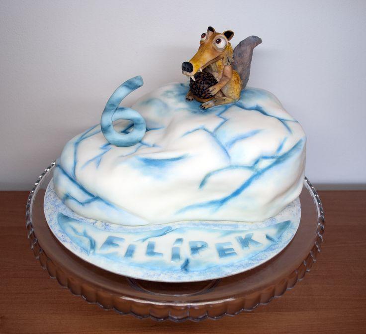 Dort s veverkou z Doby ledové. Cake with squirrel from Ice Age.