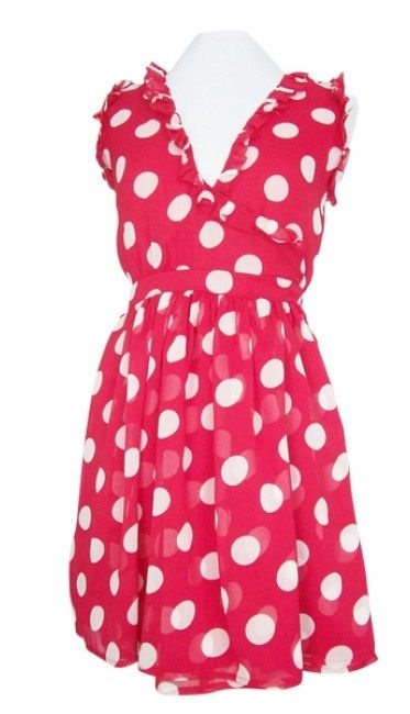 Red Hot Polka Dot Ruffle Wrap Dress ♡ Totally cute!!