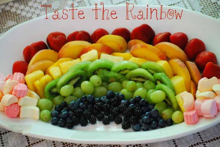 How to make a rainbow fruit platter