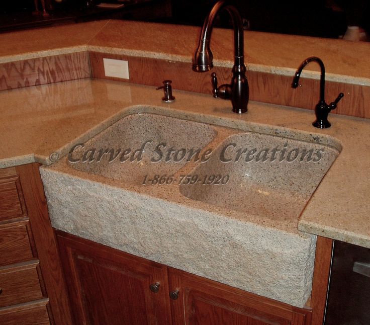 This granite kitchen sink is one of the many elegant natural stone