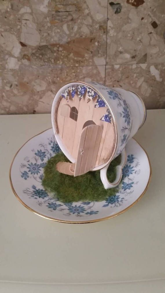 Check out this item in my Etsy shop https://www.etsy.com/uk/listing/519228865/fairy-tea-cup-house
